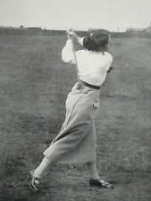Golf Ladies Down Wind Drive Cecil Leitch Gladys Ravenscroft 1912 2 Page Article