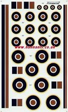 Xtradecal 1:48 RAF National Insignia/Roundels C1 Type and Fin Flashes