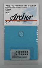 Archer 1/35 Jeep Instruments and Placards (for Bronco CB35106 / CB35107) AR35382