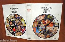 DIZIONARIO DELLA CRITICA d'arte GRASSI MARIO PEPE UTET n 2 II m-z 1978 1° ediz.