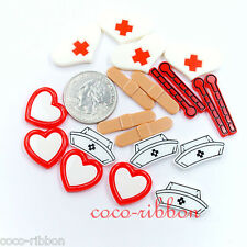 10pcs Nurse Kit Set Medical Care DIY Set Flatback Resin Cabochons - 20mm~28mm