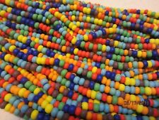 6/0 Matte Color Mix Czech Seed Beads Red Orange Yellow Aqua Green Blue Purple