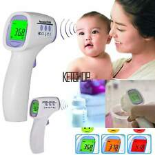 Body Skin Digital Non-contact Infrared IR Thermometer For Baby Kids Adult KECP
