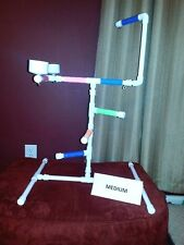 NEW Medium PVC Parrot Perch Play Gym Stand  Birds Love Them!