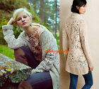XS S M Anthropologie Handknit Star-Stitch Cardigan From Angel of the North $268