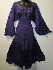 Dress Fit XL 1X Plus Renaissance Purple Corset Lace Up Chest Layer Lace Hem 5223