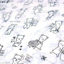 Pony Brown Bear Sticker Diary Planner Calendar Notebook Cute Kawaii Decor