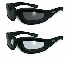 2 Kickback Foam Padded Motorcycle ATV Riding Glasses Sunglasses-FREE SHIPPING