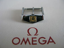 Vintage Omega 16mm Stainless Steel & 18k Gold Watch Strap Buckle