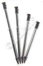4 x Pack Silver/Black Metal Retractible Stylus Touch Pen for Nintendo 3DS UK