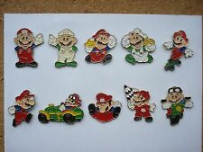 SUPER MARIO NINTENDO SNES CARTOON GAME SET RARE VINTAGE PIN BADGE JOB LOT BUNDLE