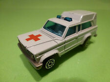 MAJORETTE 269 JEEP WAGONEER - AMBULANCE 1:64 - GOOD CONDITION