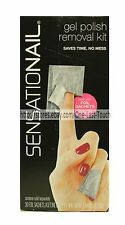 NAILENE*Sensationail GEL POLISH REMOVAL KIT Sachets+Buffer+Mani Stick #71613 1/2
