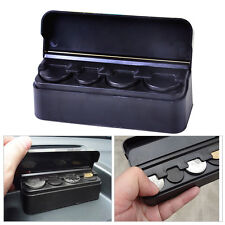 Car Coins Holder Organizer Loose Change Storage Box Money Wallet Piggy Bank