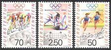 Liechtenstein 1992 jeux olympiques/jeux olympiques/sport/judo/cyclisme/vélo 3v (n39815)