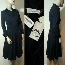 RRP £169 NWT By Malene Birger Minalli Black Cotton Shirt Dress Size 36 / UK 10