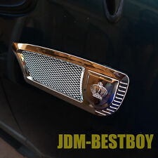 Universal CHROME Euro Style Fender Side Vent Hood Air Flow Grille Decorative #O2