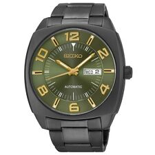 Seiko Men's SNKN35 Recraft Green Dial Black Stainless Steel Automatic Watch