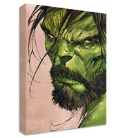 The Hulk with Beard Canvas | LARGE WALL ART | marvel bearded avengers assemble