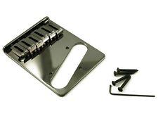 NEW - Gotoh 6-Saddle Lefty Left-Handed Tele Bridge - BLACK
