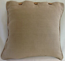 Cushion Cover Beige Putty Linen Cotton Pillow Case Throw Decor Covers 40 x 40