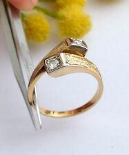 ANELLO IN ORO GIALLO 18KT CON 2 DIAMANTI - 18KT SOLID GOLD DIAMONDS RING