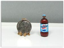 Dollhouse Miniature Plastic Diet Cola Soda Bottle