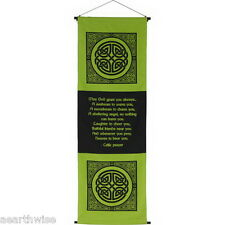 COTTON CELTIC PRAYER WALL HANGING BANNER 1219 x 394 mm Wicca Witch Pagan