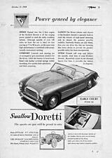 Old Print.  1955 Swallow Doretti Automobile Advertisement