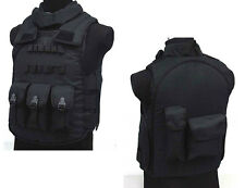 Free Shipping SWAT Airsoft Paintball Tactical Combat Assault Vest Black (ATM031)