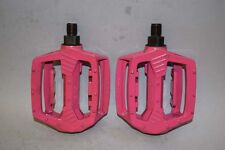 NOS HSING TA  1/2'' pedals set old school bmx skyway dyno performer gt Fuxsia