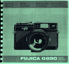 Fuji Fujica G690 BL Instruction Manual, Multi-language: Eng Fre Ger Spa