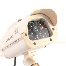 Fake Dummy Solar Powered Home Security CCTV CCD Camera Spy Cam Red LED Blinking
