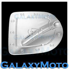 Triple Chrome Gas door Cover for 05-14 Nissan Frontier Short Truck Bed only