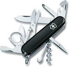 Victorinox Swiss Army Multi Tool Explorer Pocket Knife Black 91mm 53793
