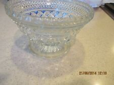 Wexford Small Footed Bowl Anchor Hocking Diamond Salad Serving Vegetable Bowl