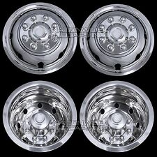 "4 DODGE 16"" Dual Wheel Simulators Dually 8 Lug Rim Skins Liners Hub Covers RV 8X"