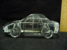 "3-D Laser Etched Crystal Paperweight Buick Automobile Car 2 1/4"" x 6"" x 2 1/4"""