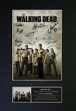 THE WALKING DEAD Top Quality Signed Mounted Autograph Photo Print (A4) No330