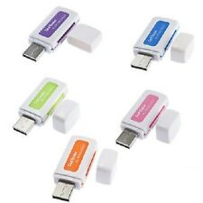 USB 2.0 MULTI CARD READER 4-in-1 memoria per M2 SD SDHC DV MICRO SD TF CARD