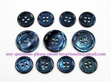 Blue Mother Of Pearl Buttons Set (MOP) For Suit, Blazer, or Sportcoat