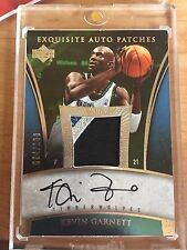 05-06 Exquisite Kevin Garnett Patch Auto #/100 Autograph 2005 2006 Upper Deck