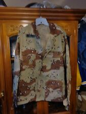 DESERT STORM  ARMY 6 Color Desert Camo Combat Shirt LARGE REGULAR NEW W/ OUT