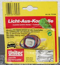 UNITEC Licht-aus-Kontrolle Relais für 6 und 12 Volt Analgen mit Montageanleitung