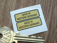 "MADE IN WESTERN GERMANIA Moto Adesivi 1.25"" Coppia Moto D'epoca Auto D'epoca"