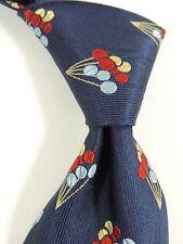 Hilditch y llave 100% Corbata Seda Tejida-Diseño De Globo Rojo/Blueyellow