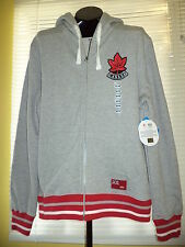 "London 2012 OLYMPIC Team CANADA HBC Gray ""Terry"" CANADA HOODIE  Mens MEDIUM NWT"
