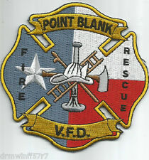 "Point Blank  Fire - Rescue, TX  (4"" x 4"" size)  fire patch"