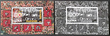 "BULGARIA 2008, FOOTBALL CLUB ""CSKA SOFIA"", 2 SOUVENIR SHEETS, NORMAL+BLACK PRINT"
