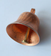 VINTAGE COPPER PLATED METAL BELL WORKS 1 & 3/8 inches tall